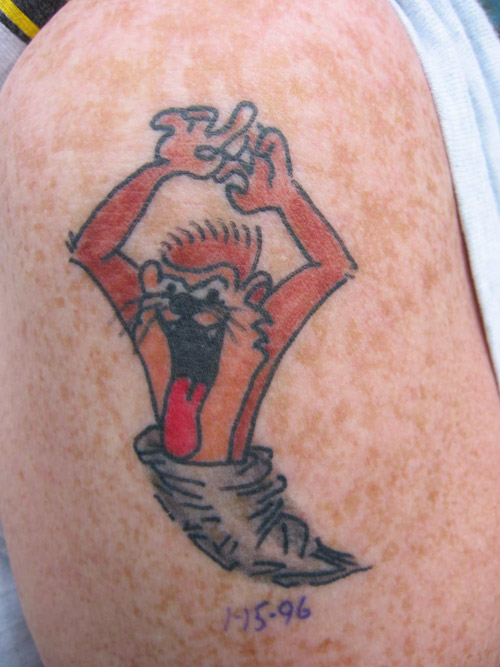 Taz Devil Tattoo of 2 by Kurt