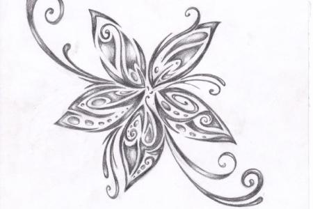 tribal flower tattoo design