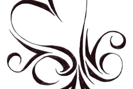 amazing tribal heart tattoo design