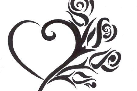 cute tribal heart tattoo design