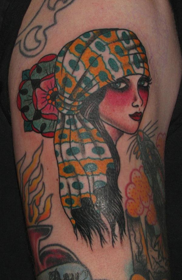 Gypsy Girl Tattoo of 2 by Ryan