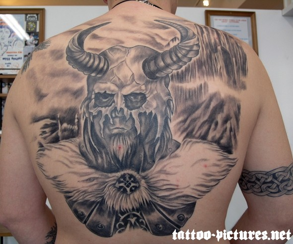 Beautiful Viking Tattoo On Man Full Back 2019 Tattoos Ideas