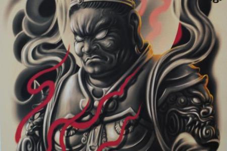 anese warrior tattoo design