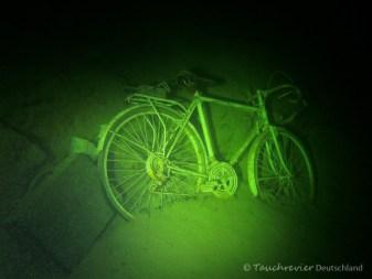 Fahrrad im Starnberger See, Tauchen im Starnberger See, Tauchen in Bayern