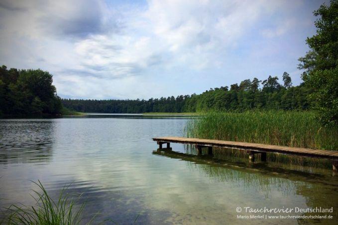 Waschsee, Mechow, Tauchen im Waschsee, Tauchen in Mecklenburg-Vorpommern