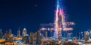 dubai burj khalida fireworks