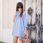 Blue Striped Shirt Dress + New Hair
