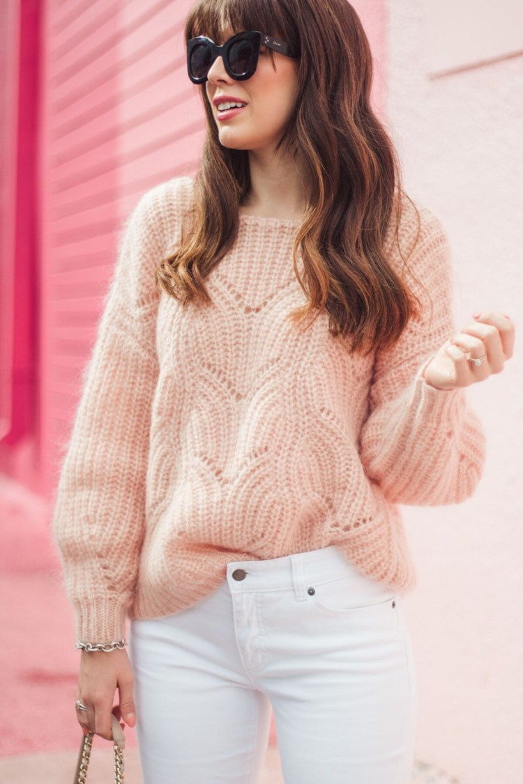 My Love For Blush Sweaters In The Springtime