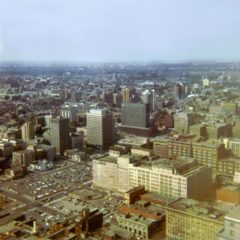 """Prior to the Place du Centre development, this is what """"uptown"""" Montréal looked like - not the work of the author."""