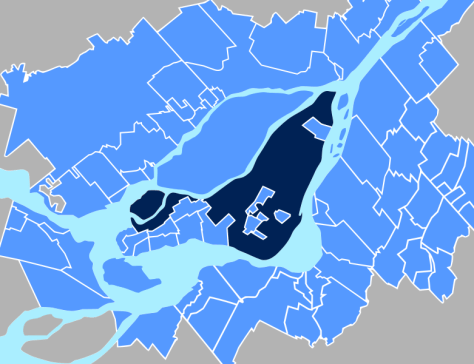 The City of Montréal & its Metropolitan Region - by Wikipedia contributor Chicoutimi (many thanks!)