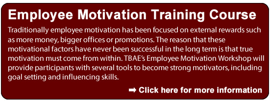 Employee Motivation Training Course