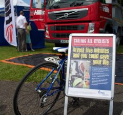 Hills promotes safer cycling at family festival