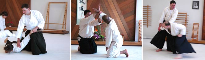 Brad Delapena, nidan, began studying Aikido in 1996 at TCAC. Brad teaches adult evening classes.