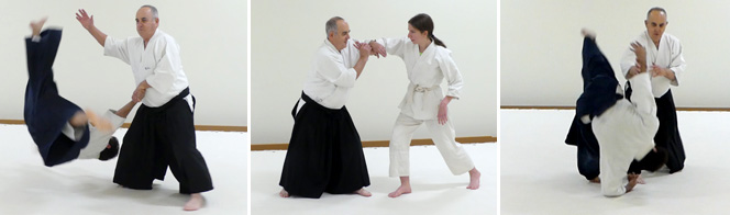 Pete Discenza, shodan, teaches morning classes and assists with youth classes. Pete started in Aikido in 1996, and received his shodan in Sept 2012. He also participated in a a community ed Aikido class in Eagan and has been teaching that program since 1995. He is retired military and airline pilot. In addition to his Aikido training, he did judo in HS, college and military.