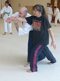 Host mom Yoshiko (nage) and Mick (uke)