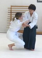Fumika (nage) and Lorraine (uke)