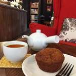 Houjicha and muffin