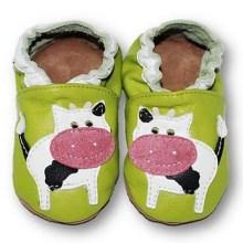 chaussons bébé enfant en cuir souple Vache Eko Tuptusie