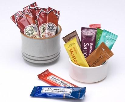 Sauce sachets promotional