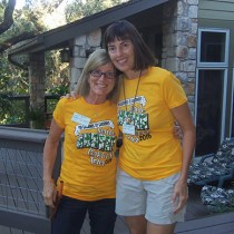 Garden owner, Sue Nazar and garden captain Cheryl Harrison