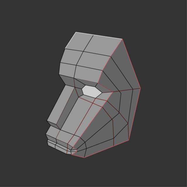 image of polygonal study of face