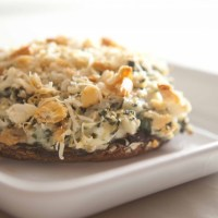 Spinach & Artichoke Stuffed Portabella Mushrooms