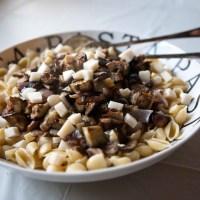 Roasted Eggplant & Mushroom Pasta