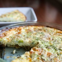 Leftover Mashed Potato Crusted Quiche