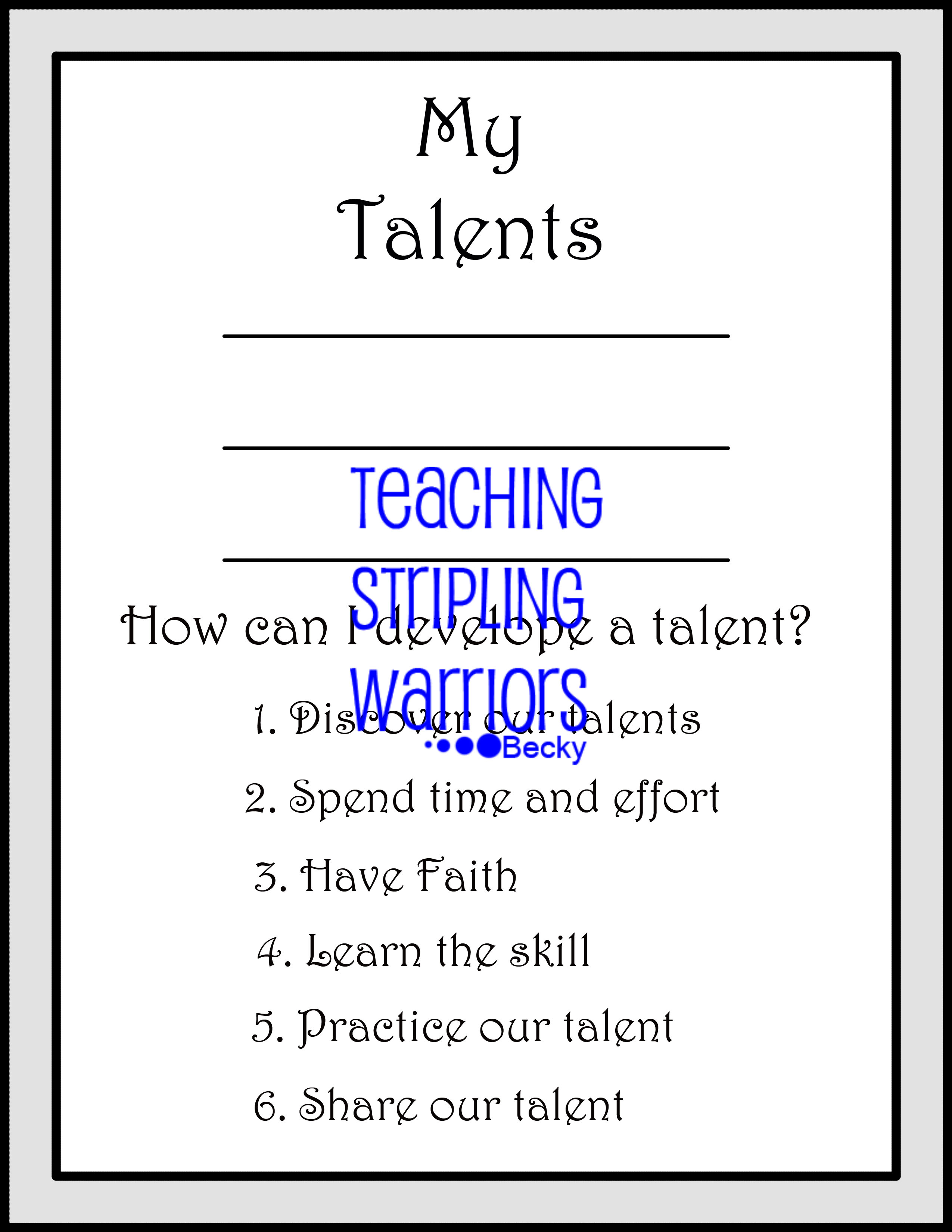 Lesson 26: Parable of the Talents