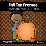 Fall Pumpkin Ten Frames