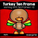 Turkey Ten Frames Math Stations