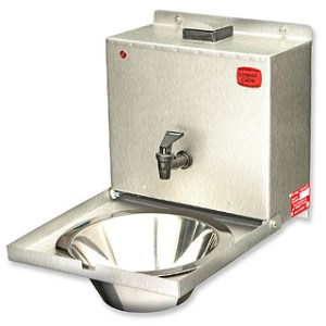 Compact Classic mobile sinks offer hot water hand washing in motor vehicles, vans and trucks