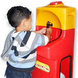 KiddiSynk portable warm water hand washing for preschool and nursery