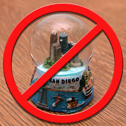 No snow globes