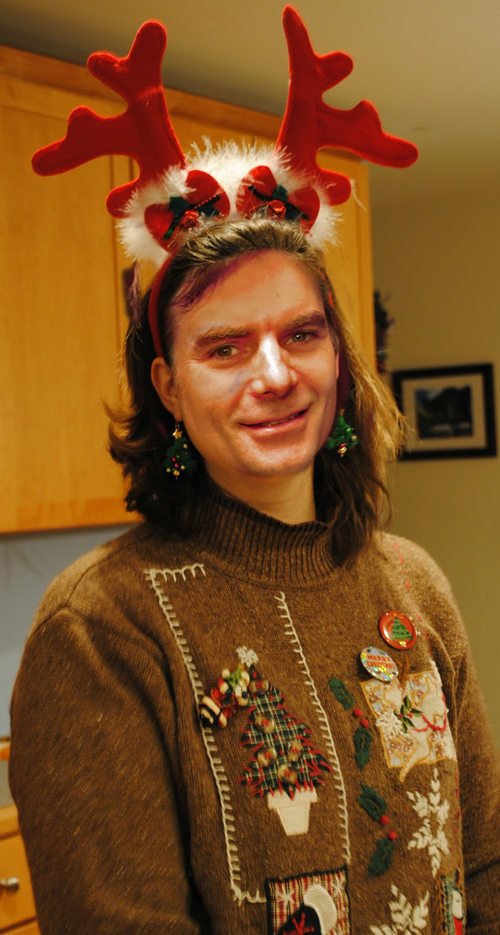 Jeff Gordon in his ugly christmas sweater Holiday sweater funny pictures funny nascar driver pictures photos