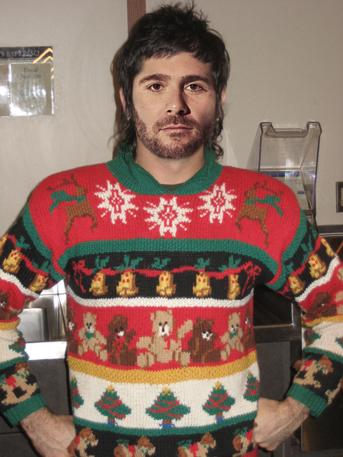 Jimmie Johnson in his ugly christmas sweater Holiday sweater funny pictures funny nascar driver pictures photos