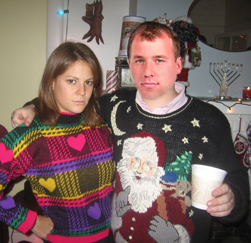 Ryan Newman in his ugly christmas sweater Holiday sweater funny pictures funny nascar driver pictures photos