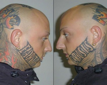 Bad tattoos, awful, worst ever face tattoo tats