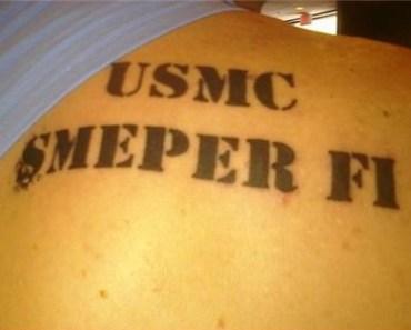 back tattoos, military tattoos bad tattoo photos, worst tattoos ever, crazy, tats, ink, awful, horrible, ugly, stupid, terrible, bad tattoo pics, animal tattoos, centaurs, weird, wtf, dumb