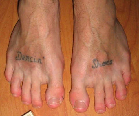 Feet, Foot Tattoos, Dancing shoes tattoo toe tats, Bad Tatto Photos, Worst Tattoos, Awful, Fail, Terrible, Funny Tattoos, Tattoo Removal, Drunk Decisions, horrible, stupid, dumb, crazy, awkward pics,