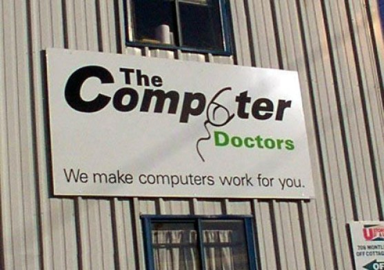 computer logo that looks like sperm, doctors, computers, logos, funny store signs, fun advertisements, ads, worst ever, bad, street signs, real estate, misspelled, wrong, fail, stupid, wtf, bad product names, funny names, funny people, wrong place wrong time,