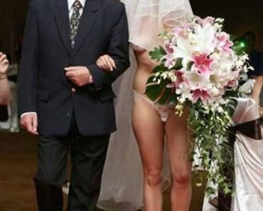 Naked Bride. funny wedding pictures, bad wedding, wedding photography worst wedding wedding disasters, strange weird, wedding fail,