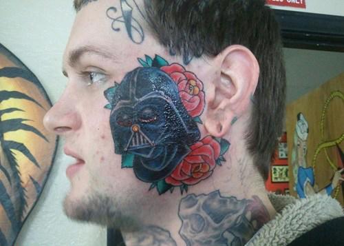 Darth Vader Face Tattoos, Worst Star Wars Tattoos Bad Star Wars Tattoos, Funny Tattoos, Funny PicturesStupid tattoos, ugliest tattoos, worst