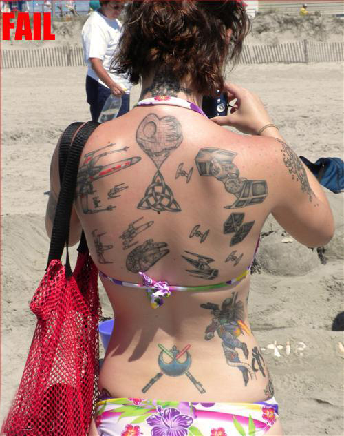 Worst Star Wars Tattoos Back BadStar Wars Tattoos bad tattoos, terrible tattoos, awful, ugliest tattoos, wtf tattoos, horrible tattoos, funny tattoos, bad family photos, worst family,awkward family, worst tattoos photos, crazy people, weird people, stupid humor, redneck humor, photobombs