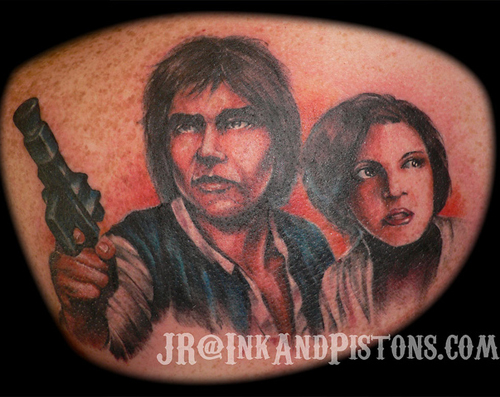 Hans Solo Princess Leah Bad Star Wars Tattoos, Worst Star Wars Tattoos, ugliest tattoos, funny tattoos, star wars convention, ugliest tattoos, worst tattoos in america, stupid people, funny pictures, wtf, fail, crazy, horrible, terrible, regrettable, regrets, awful ugly