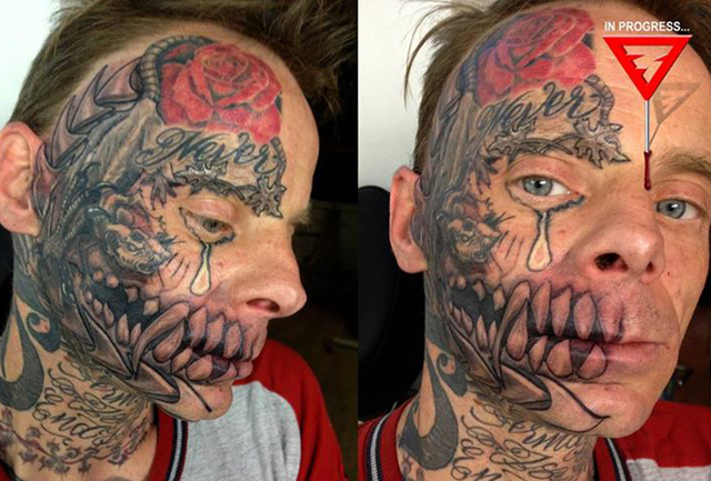 Bad tattoos 14 of the worst gone wrong team jimmy joe for Face tattoos gone wrong