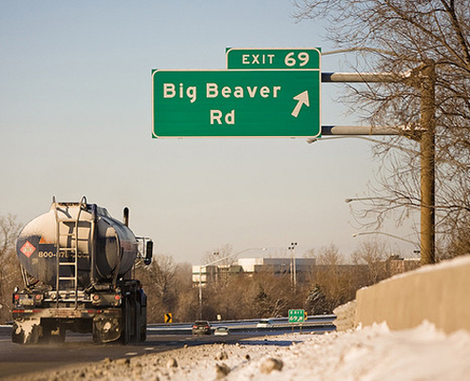 Big Beaver Road Sign, Troy MI Exit 69 Funny Signs Funny Names Town Names Street Signs Lost in Translation Bad English Sexual Innuendos Worst Bad Tattoos Crazy Strange