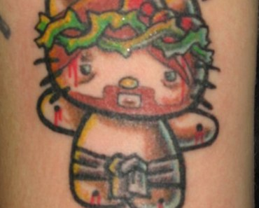 Hello Kitty Is My Jesus Bad Tattoos America's Worst Tattoos Regrettable Horrible Awkward Stupid People Regrets Misspelled Nasty Tats WTF Funny
