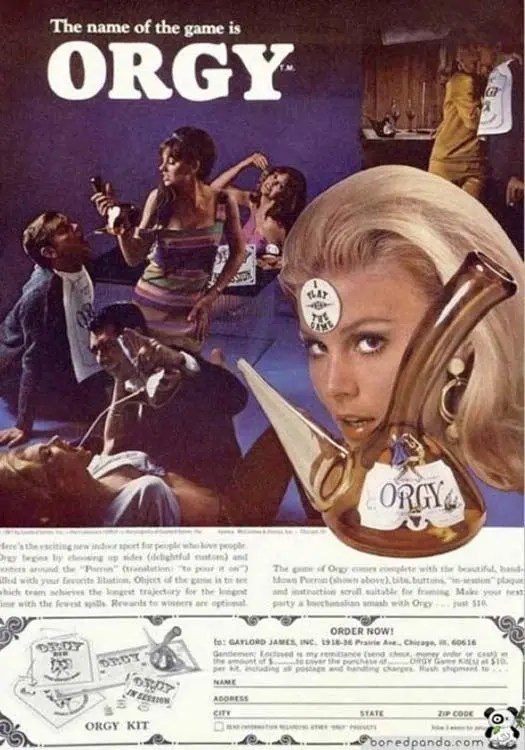 Orgy Game – Strange Weird Vintage Products & Ads