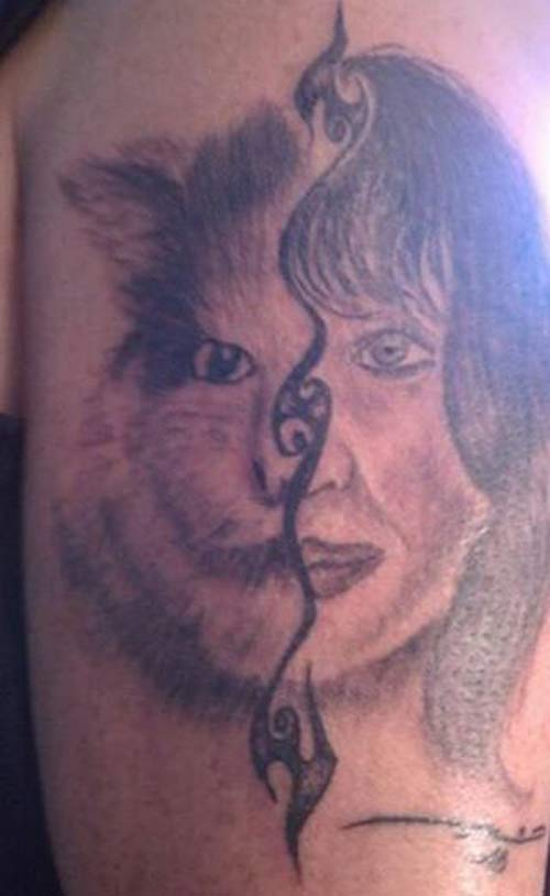 14 more of the worst bad tattoos team jimmy joe for Bad cat tattoo